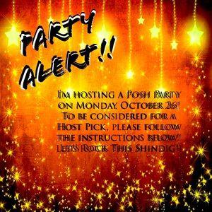 Party Alert! Monday October 26!!